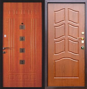 квартирные двустворчатые стальные двери