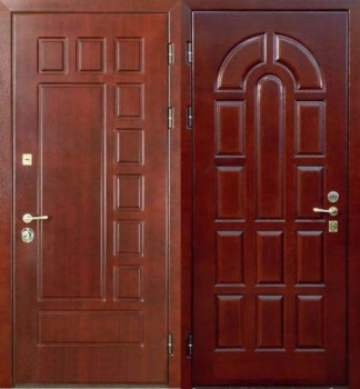 входные двери с двух сторон
