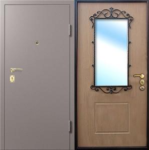 купить входную дверь на дачу порошковое напыление плюс мдф с зеркалом
